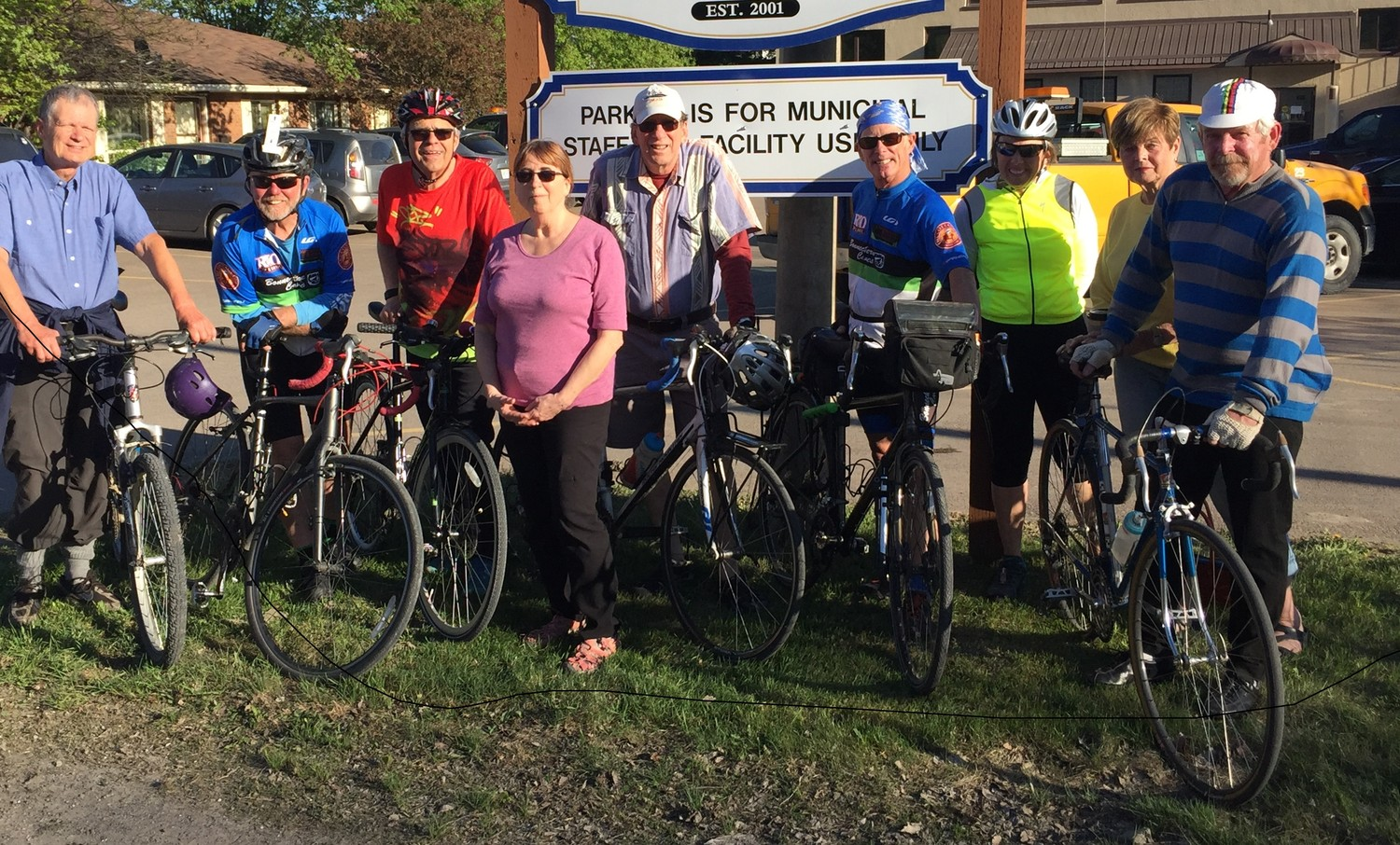 At the launch of the Renfrew County Seniors Active Transportation on May 17, 2018. From left: Ole Hendrickson (Morrison's Island), Chris Hinsperger (Eganville), Andy Kalnins (McNab), Kathy Eisner (Golden Lake), Ish Theilheimer (Golden Lake), Bob Peltzer (Bonnechere Valley), Debbie Fiebig (Admaston), Pat Krose (Whitewater), Dave Fleming (Cobden)