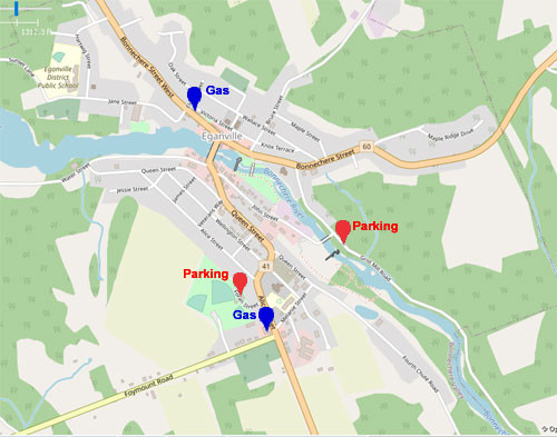 Eganville Map | Eganville map showing parking