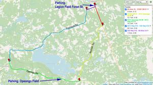 Tour de Lake Clear Map Route map for the Tour de Lake Clear